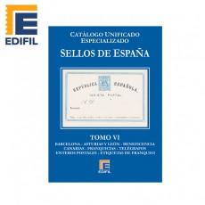 Catálogo Unificado Especializado de Sellos de España Serie Azul Tomo VI