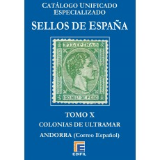 Catálogo Unificado Especializado de Sellos de España Serie Azul  Tomo X