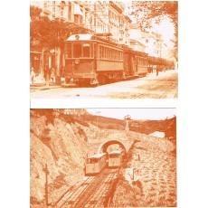 """Juego de 10 postales """"Ferrocarriles en sepia"""""""