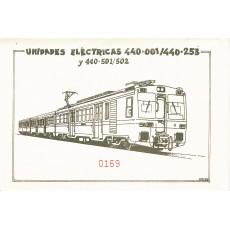 Sobre temático con 10 postales UNIDADES ELECTRICAS